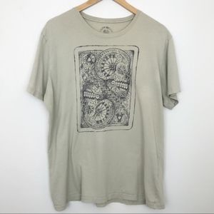 LUCKY BRAND | Skull Roulette Graphic Tee Tan XL